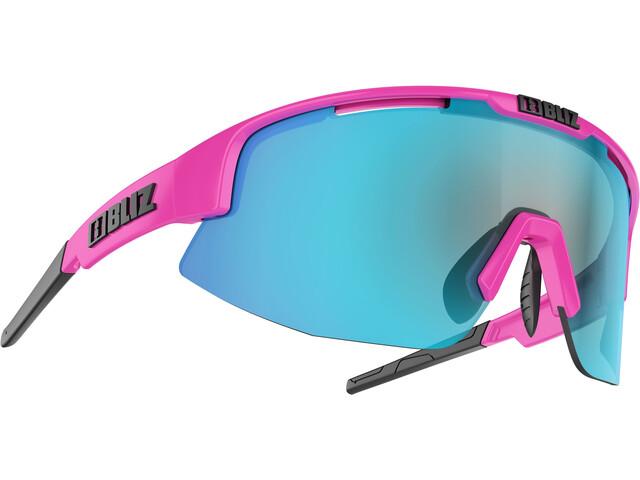 Bliz Matrix Small Nano Optics Nordic Light Glasses, shiny pink/smoke/blue multi